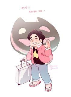 Steven Universe Pictures, Steven Universe Funny, Universe Images, Universe Art, Diamante Rosa Steven Universe, Learn Animation, Fanart, Art Blog, Chibi
