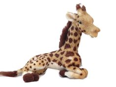 Needle felted Giraffe Sculpture. African plushie by BenMcfuzzylugs