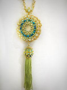 VANESA necklace and pendant (reversible) de EdgarLopezDesign en Etsy