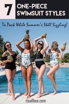 7 One-Piece Swimsuit Styles To Pack While Summer's Still Sizzling! 7 One-Piece Swimsuit Styles To Pack While Summer's Still Sizzling! Wordpress, Women Lifestyle, Lifestyle Group, Travel Clothes Women, Summer Is Here, Cute Bikinis, Travel Tips, Travel Packing, Packing Lists