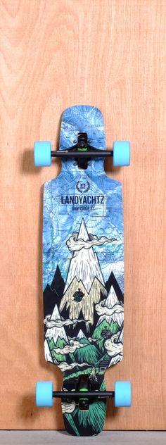 """LANDYACHTZ 37"""" DROP CARVE LONGBOARD COMPLETE"""