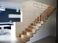 This is also true for that basement stairs. Diy Staircase Railing, Balcony Railing Design, House Staircase, Interior Staircase, Staircase Makeover, Staircase Design, Stairs, Escalier Art, Rustic Basement