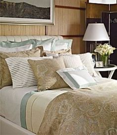 Beach themed bedding can be really tacky, it's all about finding the balance, and please -- no palm trees.