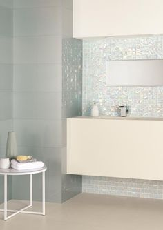 Brand new Ultimo Shell mosaics are larger than your average mosaics with an iridescent shimmer for a beautiful finish. originalstyle.com