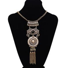 Long Pendant Statement Necklace