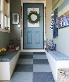 That haphazard pile of coats and shoes near your front door isn't going to cut it. Here's how to create a functional and organized storage spot, even when you think you don't have enough room.