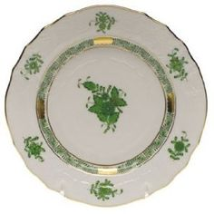 Herend Chinese Bouquet Dinnerware, Green Home - Dining & Entertaining - Dinnerware - Bloomingdale's Chinese Flowers, Indian Flowers, Green Dinnerware, Porcelain Dinnerware, Raspberry Bread, Green Dinner Plates, Bread N Butter, Christmas Tablescapes, Hand Painting Art