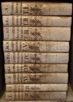 ❥ antique vellum books