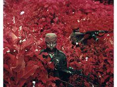 Richard Mosse & the Congo using discontinued Kodak infrared film.