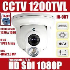 Good price Panasonic 1/2.8'' 2Mega Pixel Sensor DSP 1 IR LEDs Camrea 1200TVL Outdoor CCTV Camera wholesale For HD SDI Camera best buy