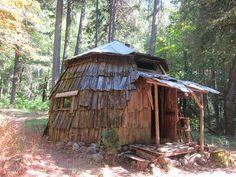 shingled hut