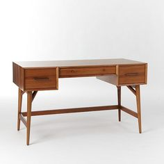 Mid-Century Desk - Acorn | west elm