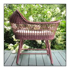 Antique Wicker Bassinet...so precious!!
