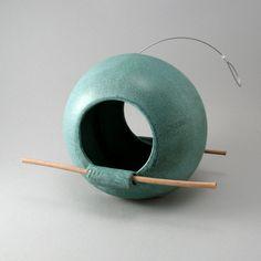 Bird Feeder with Bamboo by cherylwolffgarden on Etsy, $90.00