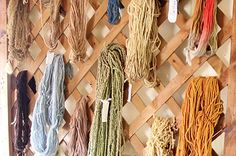 32 non-knit yarn projects...some are really not good ideas, but some are quite cute. @Triple Tee @Madison Graham