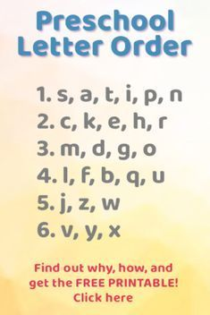 Teaching Letter Recognition – what order to introduce letters Free Printable! This is the order for teaching the alphabet letters! This teacher explains WHY and [. Preschool Letters, Toddler Learning Activities, Preschool Learning Activities, Preschool Lessons, Alphabet Activities, Alphabet Letters, Spanish Alphabet, Letter Tracing, Preschool Curriculum Free