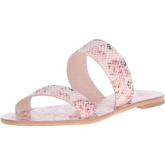 Joie Women's Sable Flat Sandal ($33) ❤ liked on Polyvore featuring shoes, sandals, leather slip on sandals, leather slip on shoes, flat shoes, leather shoes and floral sandals