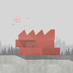 Mars - Zean Macfarlane #architecture #architect #architects #archilovers #architektur #architectural #art #arte #artist #artwork #red #mars…