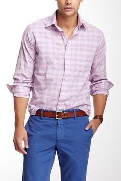 Mason's Trim Fit Plaid Shirt