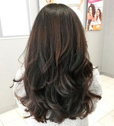 80 Cute Layered Hairstyles and Cuts for Long Hair, Frisuren, Thick Layered Black And Brown Cut For Long Hair. Medium Long Hair, Long Hair Cuts, Medium Hair Styles, Curly Hair Styles, Natural Hair Styles, Thick Long Hair, Short Cuts, Choppy Haircuts, Long Layered Haircuts