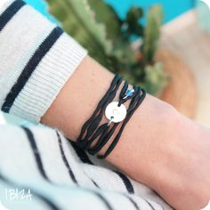 Ibiza Musthaves My Initial Birth Stone Silk Armband ♡ available at www.ibizamusthaves.nl