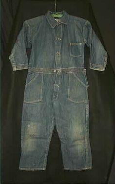 Coveralls, child's, dark blue denim, 1925-1940