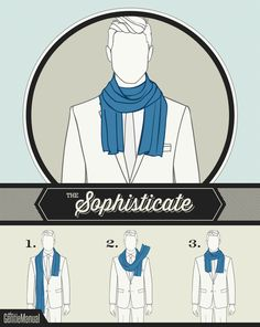 6 Ways for Men to Wear Scarves. Check out the guide at TheGentleManual.com