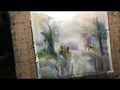"""Watercolor lesson, wet on wet technique without drawing:""""Edges"""" - YouTube"""
