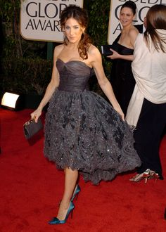 Sarah Jessica Parker in Chanel, 2004. I like the top of this dress.