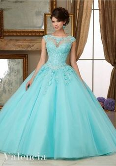Simples Do Aqua Vestidos Quinceanera Barato Alta neck Lace Appliqued Vestido Para Festa de 15 anos Vestido Loja Online | aliexpress móvel