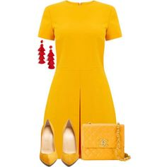 Untitled #2171 by seventeene on Polyvore featuring Warehouse, Christian Louboutin, Chanel and BaubleBar