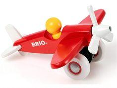 Avion à hélice en bois de BRIO - Paré pour le décollage !