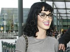 These winged frames are a good match for Katy Perry's Bettie Page hair and pink lips
