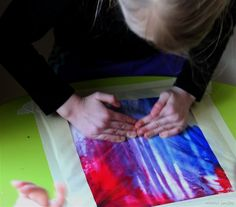 No-mess color mixing for kids