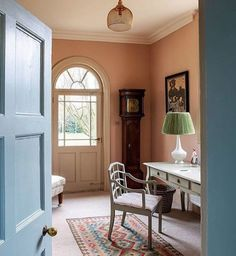 Cottage Paint Colors, Beige Paint Colors, Paint Colors For Home, Beige Room, Pink Room, Loving Room Ideas, Living Room Orange, Yellow Walls, Yellow Hallway