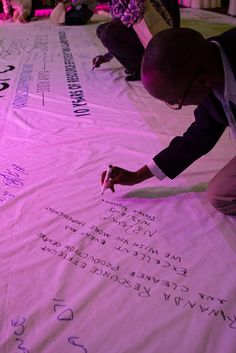 Banner signing