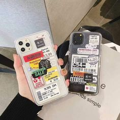 Hot Flight Ticket QR code tags soft Silicon Phone Case For iPhone - Clear Case on White Phone