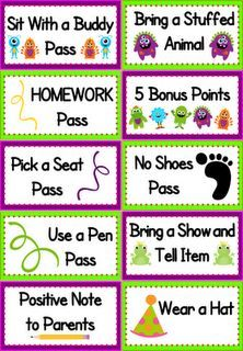 Classroom Freebies: Monster Themed Behavior Coupons Freebie--  I'm adding some of these to my weekly raffles!