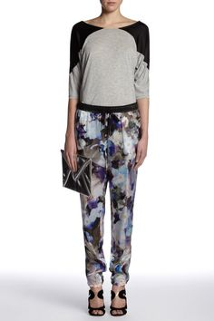Set - Silk trousers - Rose Grey