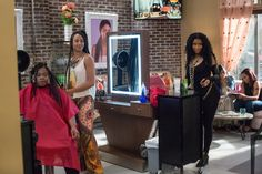 Margot Bingham and Nicki Minaj in Barbershop The Next Cut