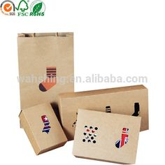 Kraft paper eco-friendly sock packaging box with die cutting window