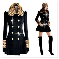 #tbdressreviews #Outwear #Overcoat #HotSale ,Korean Leopard Print Overcoat from #tbdress.