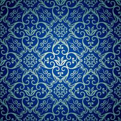 Blue Vector Pattern | Free EPS file Blue floral seamless pattern design vector download