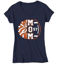 Women's Personalized Cheer Mom T Shirt Custom Football Shirts Cheer T Shirt Personalized Team Football Shirts, Custom Football Shirts, Sports Shirts, Custom Shirts, Football Cheer, Football Moms, Football Players, Football Awards, Youth Football, Basketball Mom