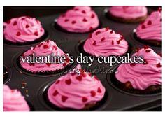 Valintines day cupcakes