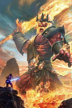Foto: Fire Giant by Arvin Liu  ArtStation