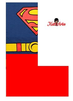 Superman Free Alphabet. Lindo Alfabeto de Superman Gratis.