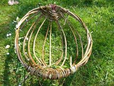 So to answer Mungo's question in my previous post….. Take the basket rim and the central rib (if you wish to make a basket with a handle this would be another Willow hoop) and using a c…
