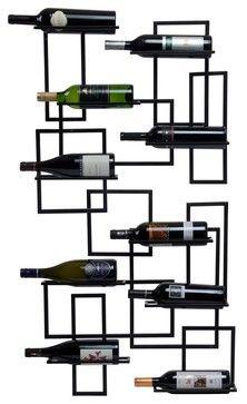 Mid Century Wine Rack eclectic wine racks