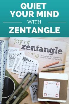 """A few tools you need to get started with Zentangle. It's where mindful """"doodling"""" meets meditation. And it's one of my current favorite things. #spon"""